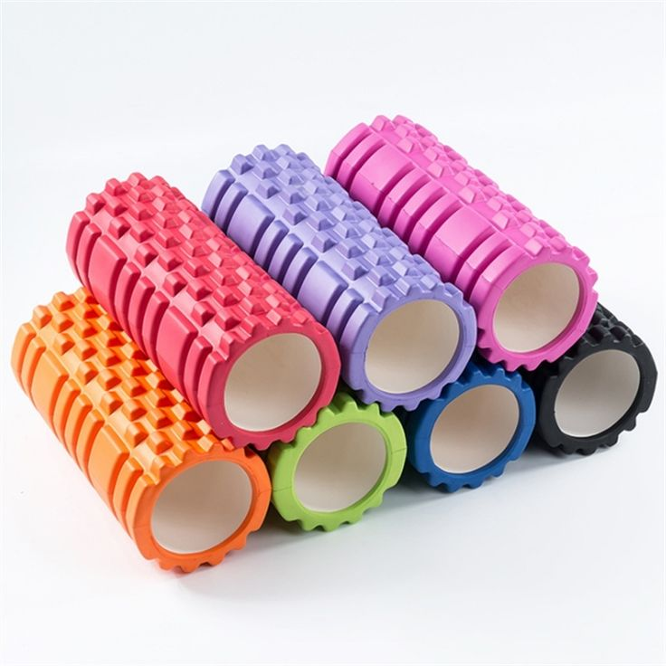 7Colors High Density Floating Point Fitness Gym Exercises EVA Yoga Foam Roller for Physio Massage Pilates Tight Muscles(33*15cm)