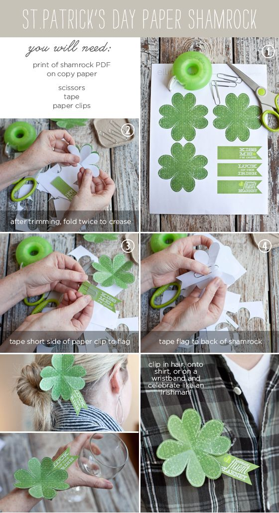 St. Patricks Day Shamrock: Awesome Printable, Diy St., Shamrock Crafts, Paper Shamrock, 4 Leaf Clovers, Crafts Printable, Shamrock Printable, St. Patrick'S, Paper Crafts