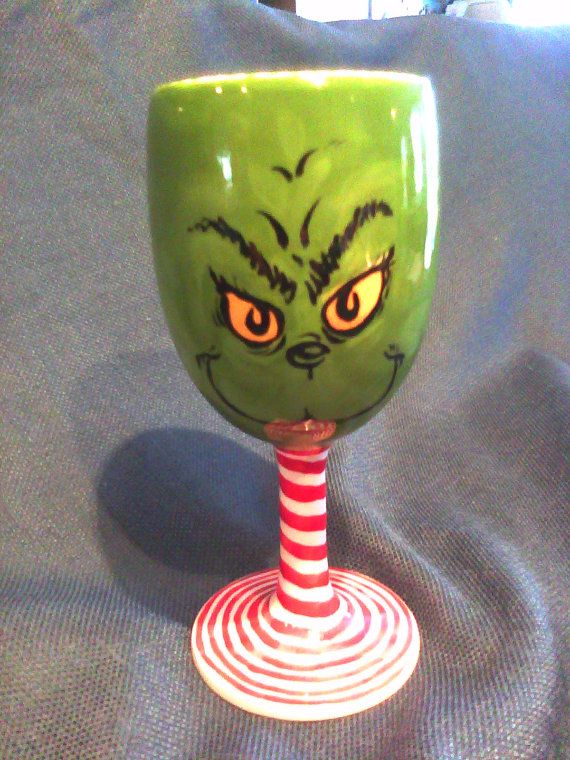 YaYa Christmas Wine Glass by ArtlyDoneBySharon on Etsy, $35.00 - - - http://www.pinterest.com/elliesmommy17/so-this-is-christmas/