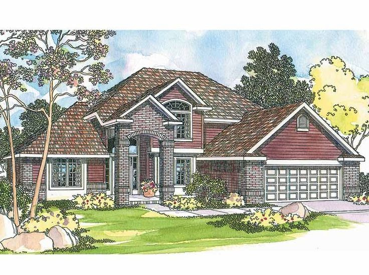 New american house plan with 2241 square feet and 3 for American dream homes plans