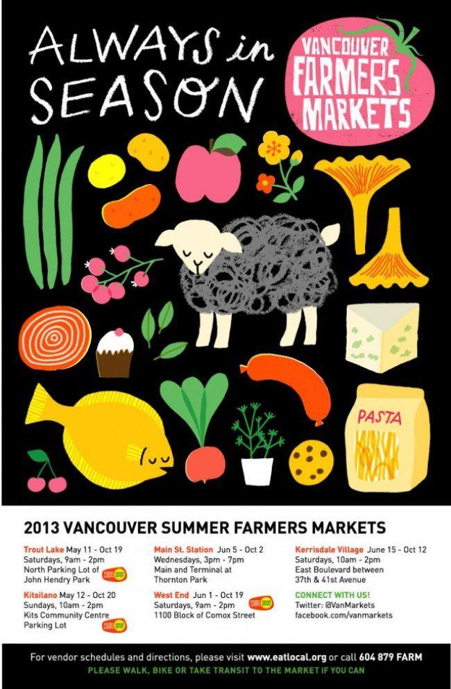 Vancouver Farmers Market 2013 | Schedule