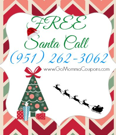 FREE call from Santa! Also, check out the reindeer cam.