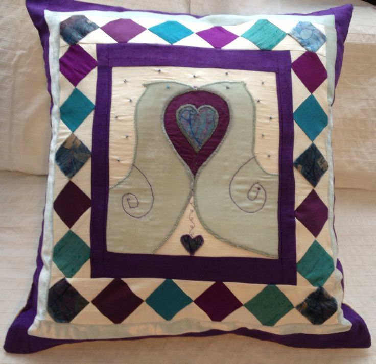 Love birds wedding cushion