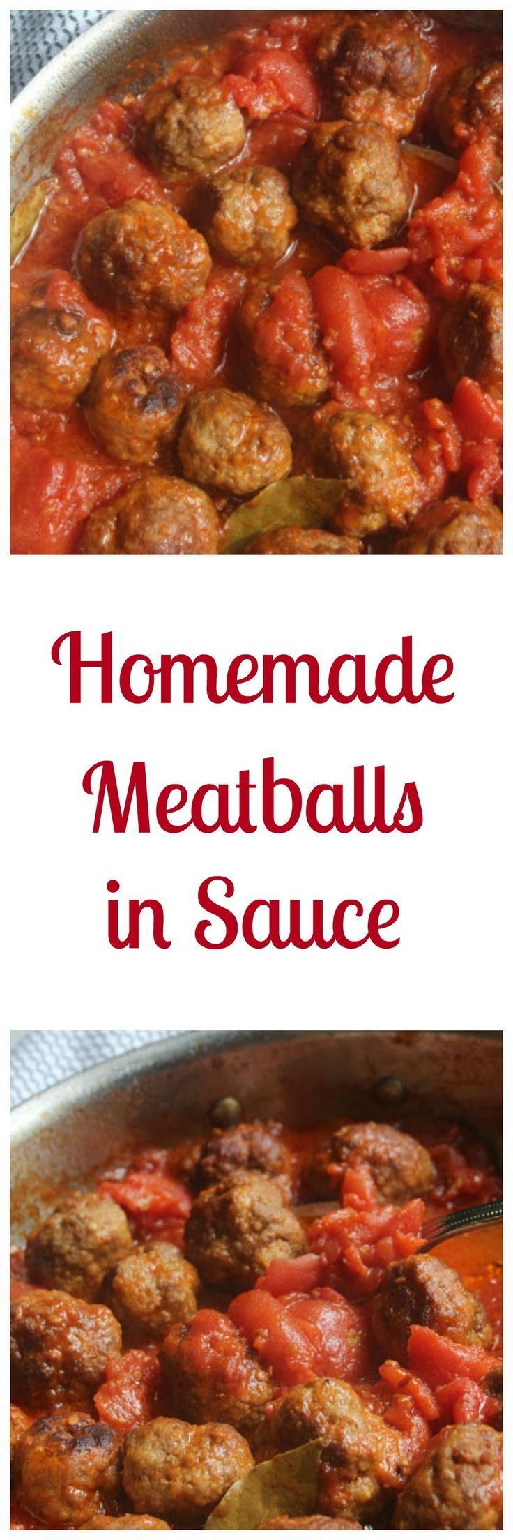 These yummy Homemade Meatballs in Sauce are fun of flavor and make dinnertime a snap! Ready in less than an hour, what makes these meatballs a great dinnertime solution is the fact that you can prep everything the morning of (or even the night before!) an