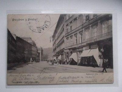 Praha 1 Národní třída koňka tramvaj