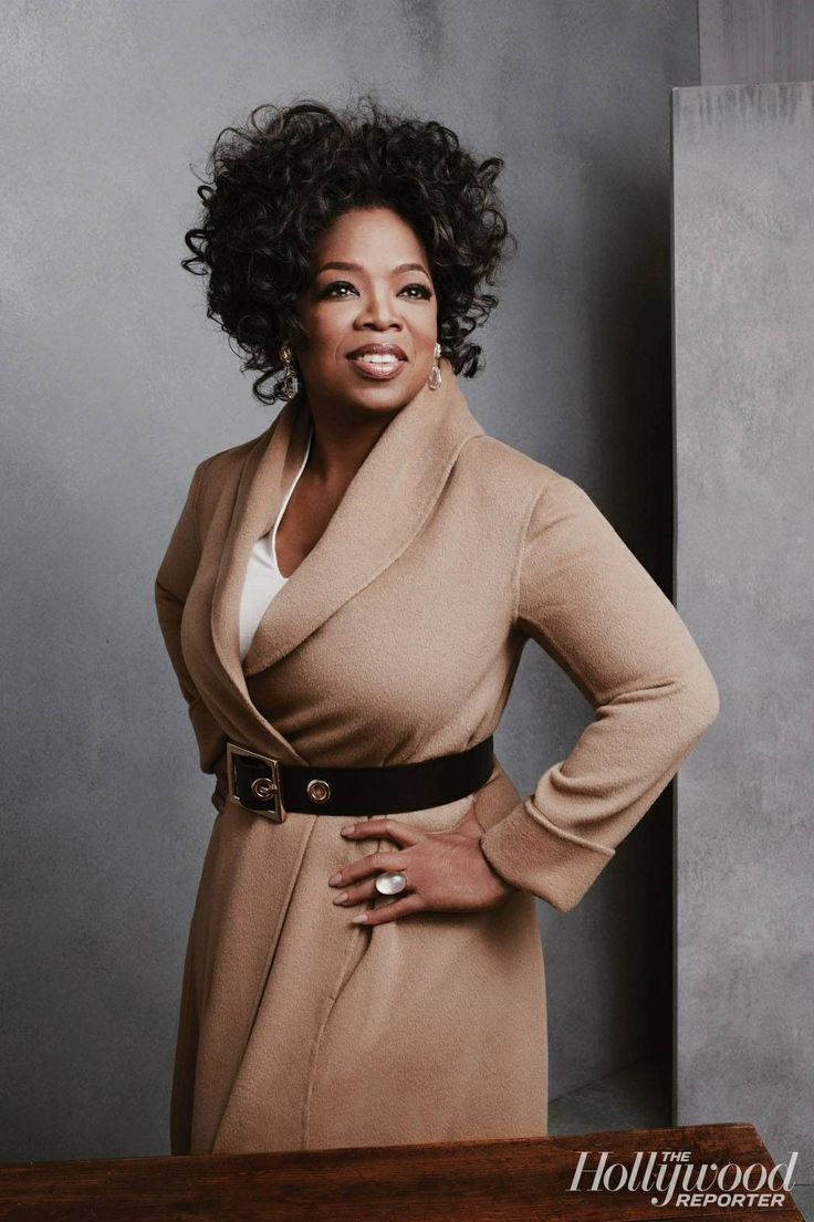 Oprah Winfrey, a Cello body shape. This long line coat is a great shape on her…