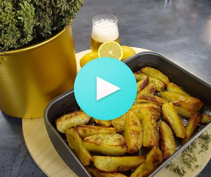 Πατάτες μπύρας από την Αργυρώ Μπαρμπαρίγου | Εύκολα, γρήγορα και οικονομικά, φτιάξτε αυτές τις ζουμερές πατάτες μπύρας και συνοδέψτε νόστιμα τα κρεατικά σας