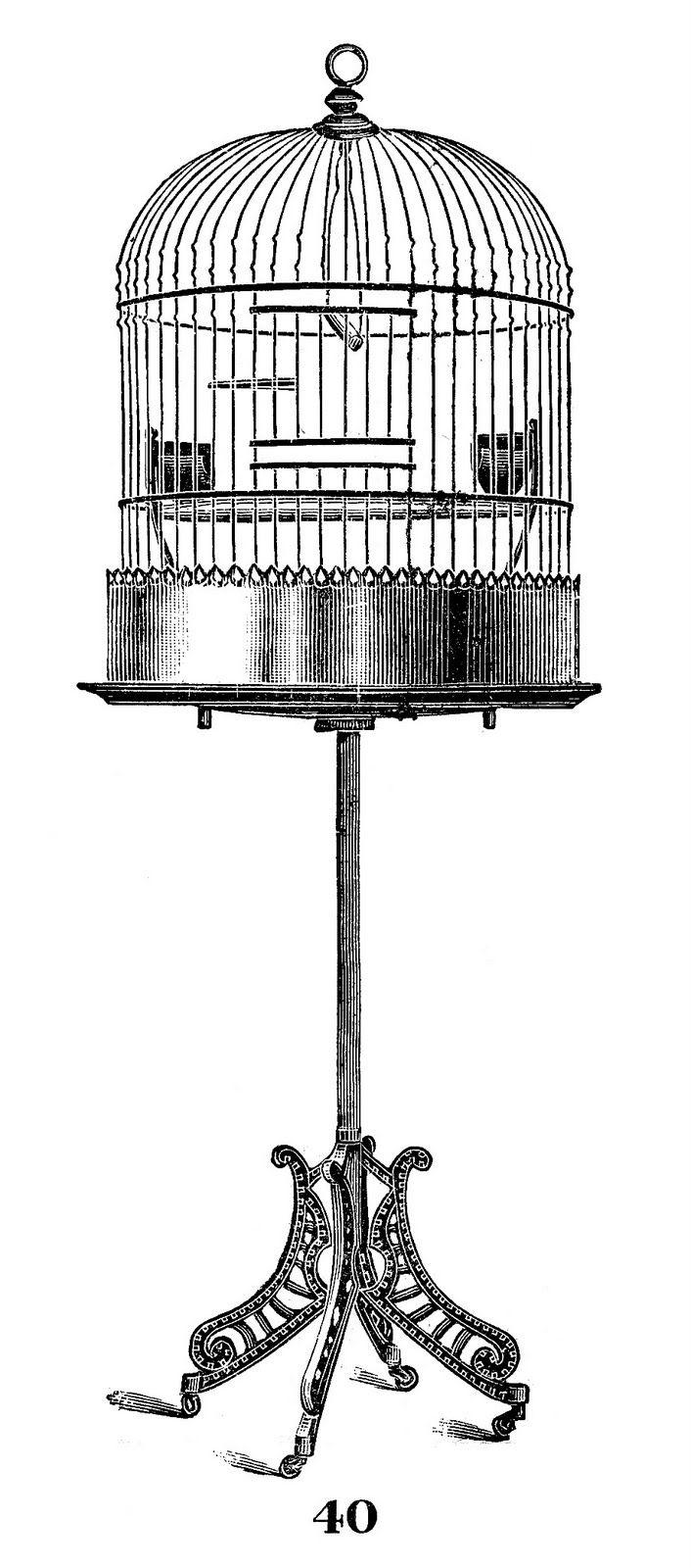 Vintage Image - Wonderful Bird Cage - The Graphics Fairy