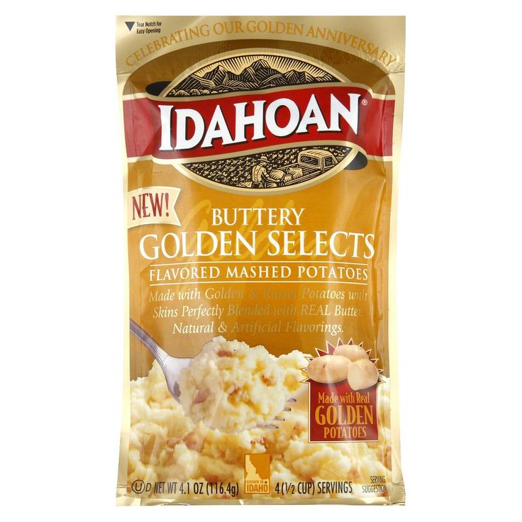 Idahoan Buttery Golden Selects Flavored Mashed Potatoes 4 oz