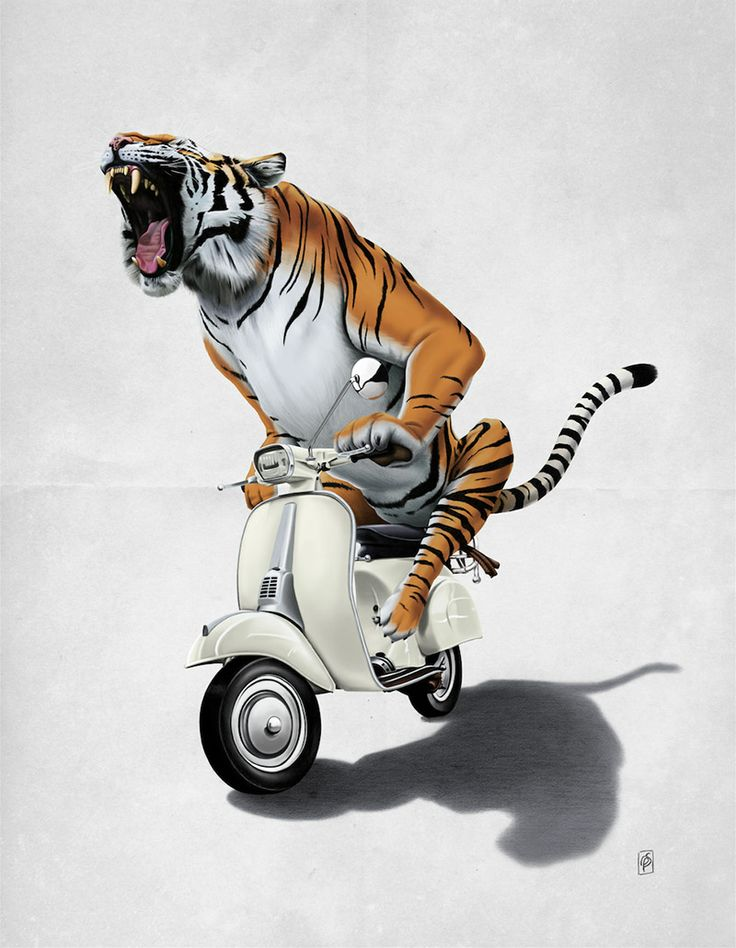 """""""Rooooaaar!"""" by Rob Snow for The Creative Pet Project."""