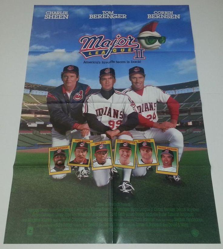 Major League II (1994) One Sheet Movie Poster Berenger Bernsen Charlie Sheen