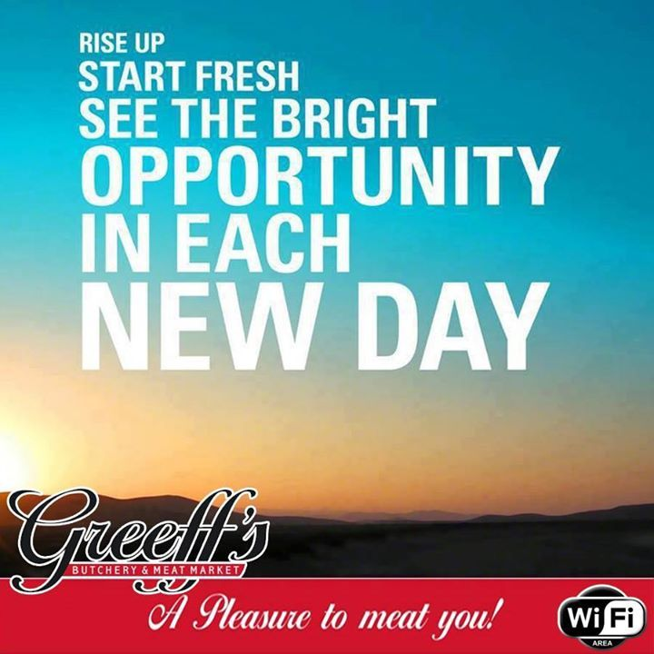 Rise up, Start fresh, See the bright opportunity in each new day. Happy Sunday from all of us at Greeff's! #Sunday #weekend #inspiration