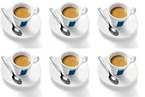 6 X Lavazza Espresso Coupes Porcelaine et soucoupes des capacités cc 75, height mm 58: 6 x tasses et soucoupes à espresso Lavazza Une belle…