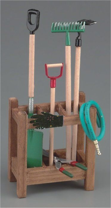 stands for garden tools | RP18170 - Garden Tool Stand - Minimum World - The Online Dolls House ...