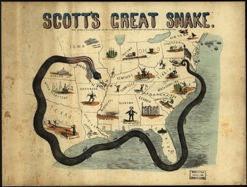 The Anaconda Plan was used by the union to suck the life out of the south. They would use the army and the navy to take over all southern ports and not let anything in or out which would cause the economy of the south to be ruined. They also used thenavy to take control of the Missisippi river so they could cut the confederacy into 2 pieces.