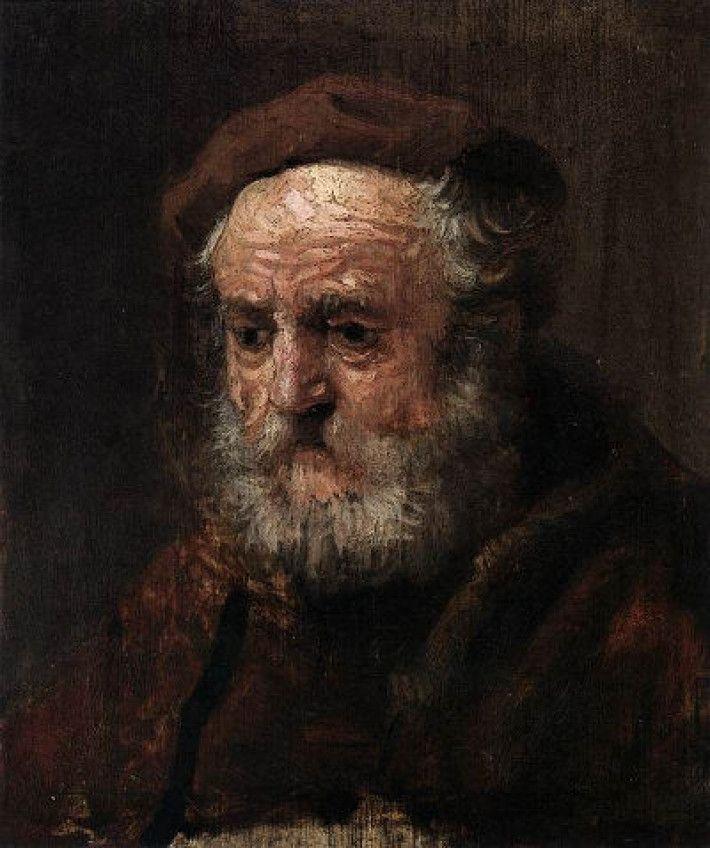 Rembrandt van Rijn, Hoofd van een oude man [studie], ca. 1635-1639, olieverf op paneel, 21 cm x 18 cm, Metropolitan Museum of Art, New York
