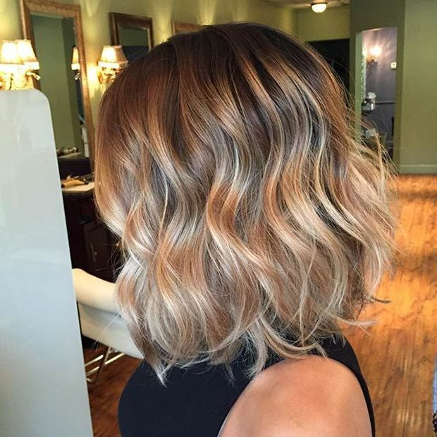 Balayage Bob Cut + Soft Beach Waves