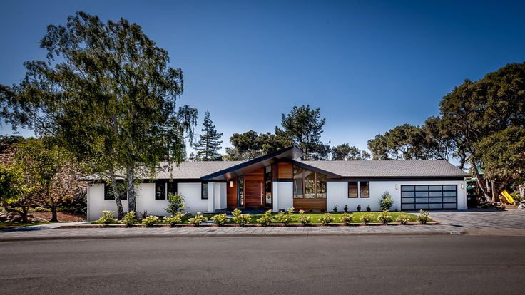 AvBuilders Mid Century Modern Ranch Front Profile
