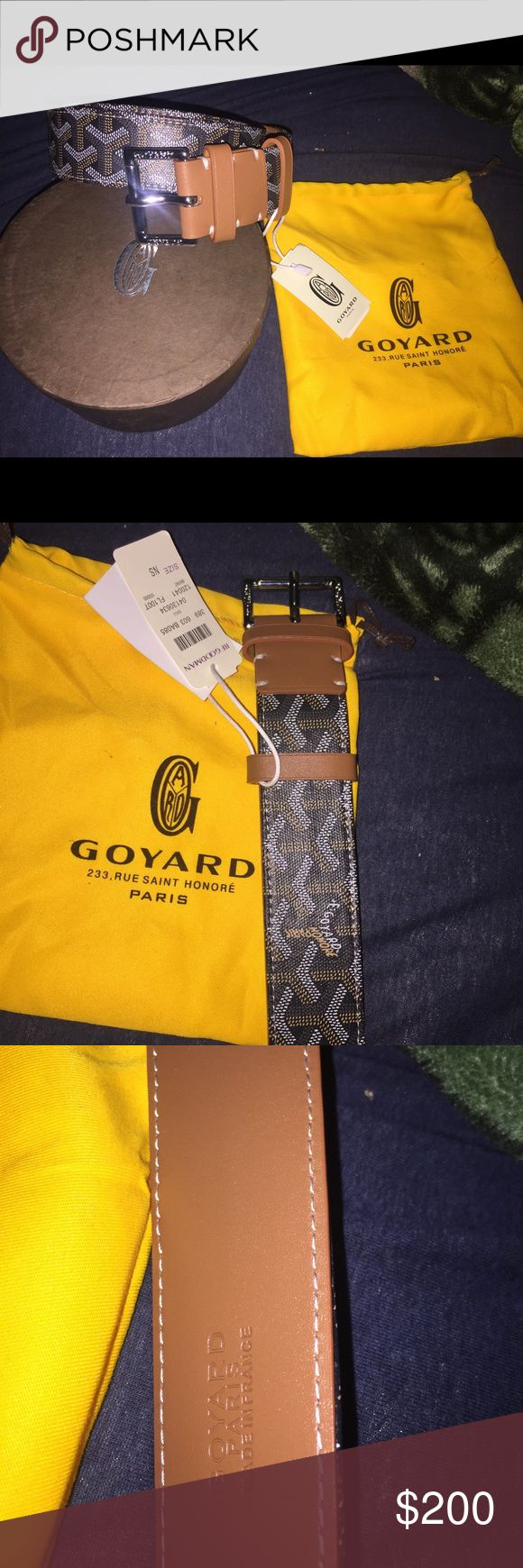 Black and brown goyard belt Size 32-34.        No trade.                 💯% aunthenthic Goyard Accessories Belts