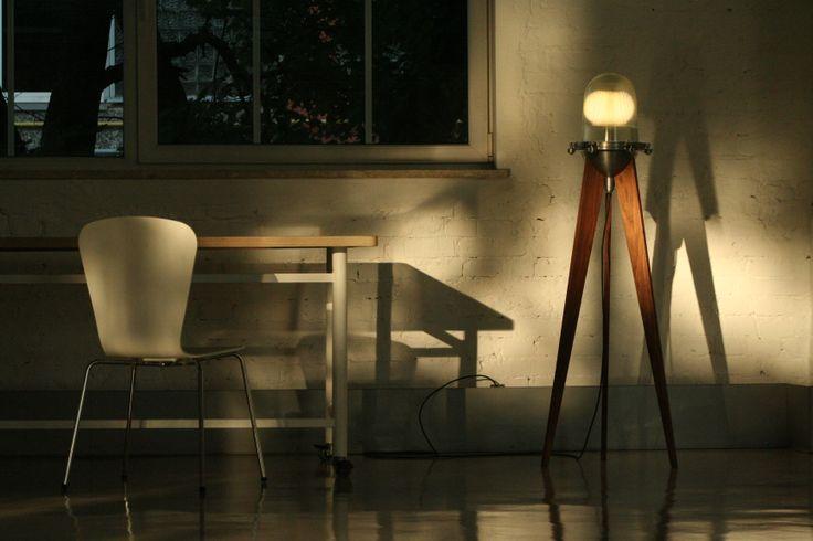 Industrial style floor lamp by Ingus Jākobsons(Furniply).