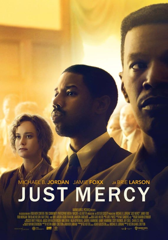 Just Mercy Movie Poster Glossy High Quality Print Photo Brie Etsy Mercy Movie Movie Posters Movies