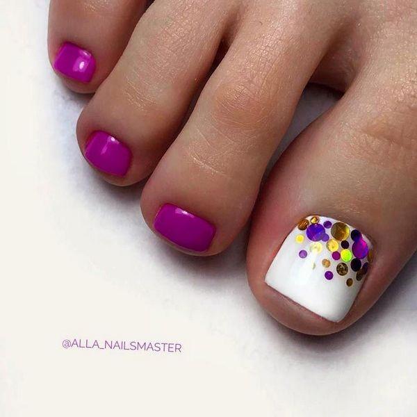 48 Simple Easy Toe Nail Designs For Summer Toenails Pedicure