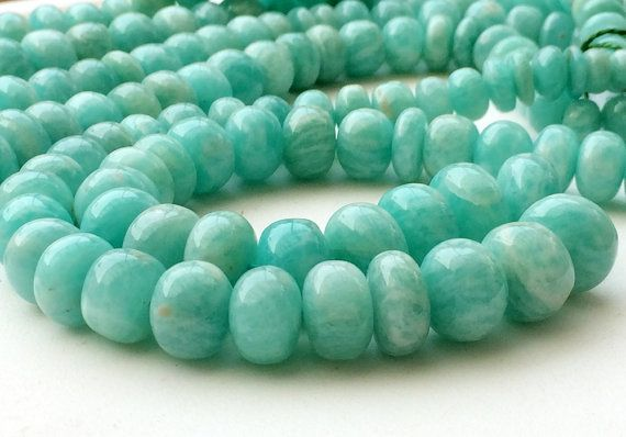 Amazonite Beads Amazonite Plain Rondelle Beads by gemsforjewels