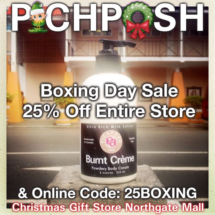 Boxing Day Sale - 25 percent off everything !!! Boxing Day only !!! Then special sale pricing until December 31, 2013. Website orders as well. PICHPOSH  Christmas Gift Store - Northgate Mall Regina Saskatchewan ★★★New Location★★★ Down from the Target Mall Entrance.  #boxingdaysale #northgatemall #regina #bathandbody #shopping #pichposh