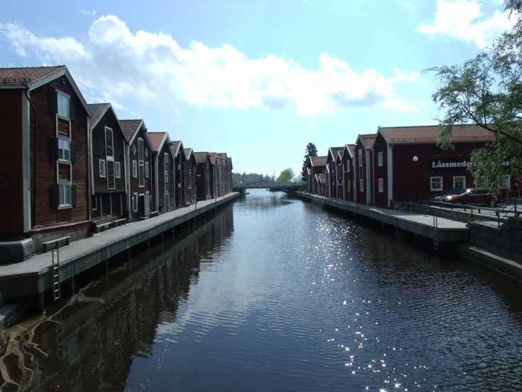 One of my favorite sights in Hudiksvall, the old canal.