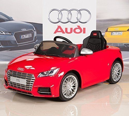 Audi TTs 12V Kids Ride On Battery Powered Wheels Car + RC Remote - Red