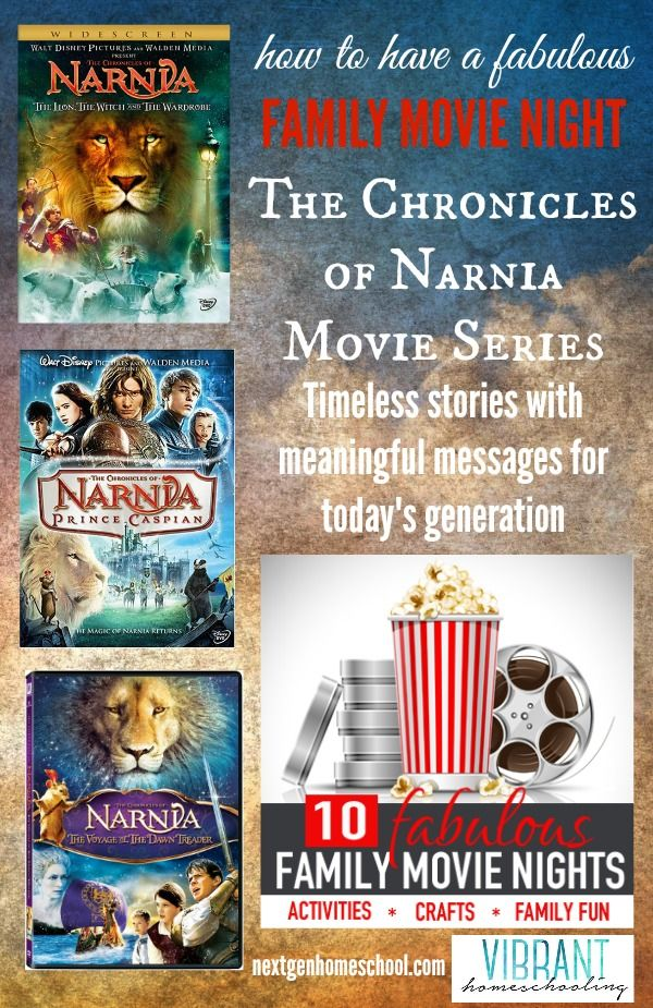 Enjoy a fun family movie night with The Chronicles of Narnia! Here are discussion starters, crafts, activities and more for your family movie night!
