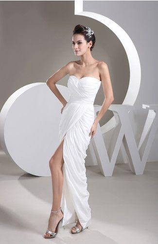 Casual Sweet 16 Dress Long Split Front Allure Sheath Plain ...