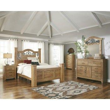 Drogan Queen Poster Bed, Dresser U0026 Mirror   Detailed Bedroom Set That Can  Brighten Any Room