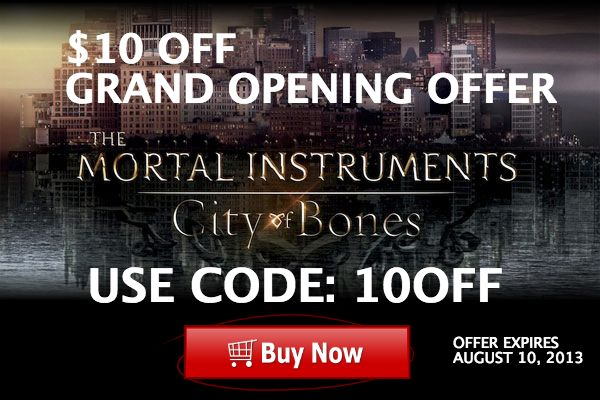 The Mortal Instruments - Movie Fans - Get this exclusive $10 OFF coupon code when you purchase silver jewelry from http://www.themortalinstrumentsjewelry.com  Use Code: 10OFF