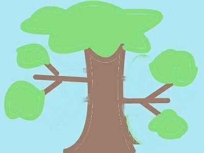 een boom getekend