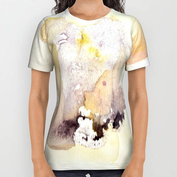Petal Close-Up T-shirt with printed watercolor design. Unisex