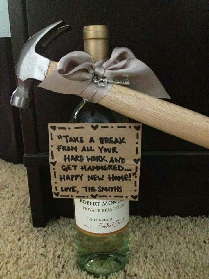Great housewarming gift idea. Cute. Simple. Self-explanatory.