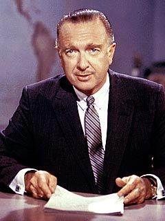 "TV News Legend Walter Cronkite Dies at 92.  Walter Cronkite, for decades the embodiment of TV news.  The avuncular anchor once dubbed ""the most trusted man in America"". Missouri born and Texas raised, the robust young Cronkite dropped out of college in 1935 to cover news and sports for various newspapers around the heartland."