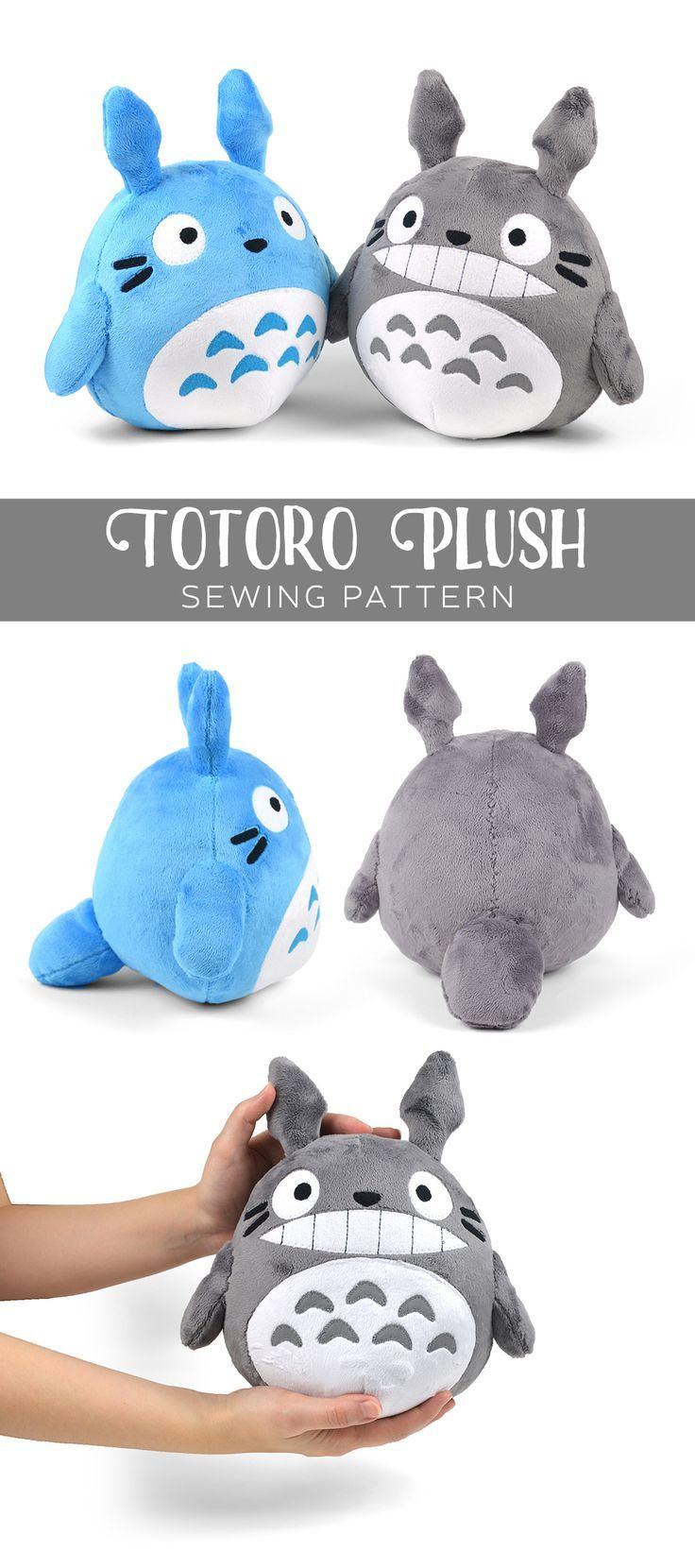 Totoro plush free sewing project pattern PDF! Cuteness!!