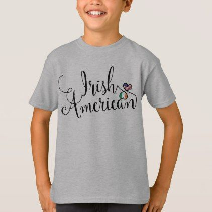 #Irish American Entwinted Hearts Tee Shirt - #cool #kids #shirts #child #children #toddler #toddlers #kidsfashion