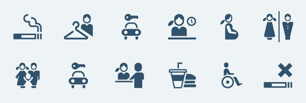 Public pictograms by Tom Nulens, via Behance