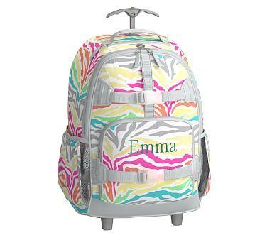 Multicolored Zebra Rolling Mackenzie Backpack Backpacks