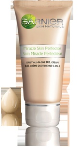 Garnier BB Cream SPF 15 - great, great stuff. I'm already on my second tube of the sensitive skin version.