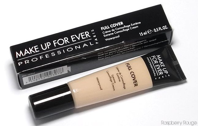 Makeup Forever Full Cover Concealer. This stuff is amazing. Covers scars, tattoos, does not budge.  Water proof.
