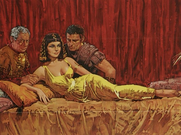Cleopatra and Marc Anthony....and Caesar #Elizabeth Taylor #classic movie art