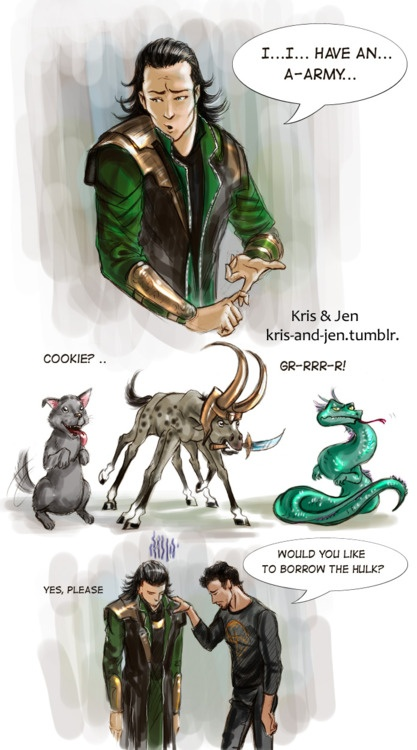 Would you like to borrow the Hulk?  (!!!! <3 LOVE this! Yay for including real Norse Mythology into it :) -@thespiraldown)