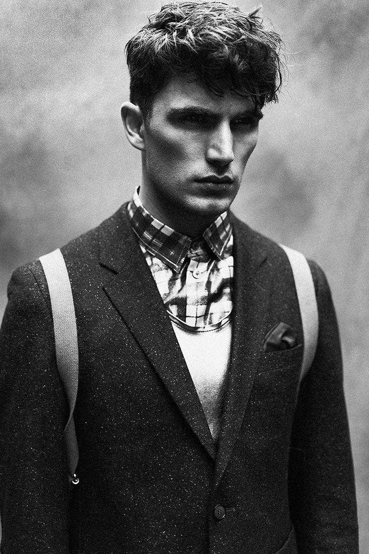 Julien Quevenne Stars in Black & White Editorial for Chasseur Magazine