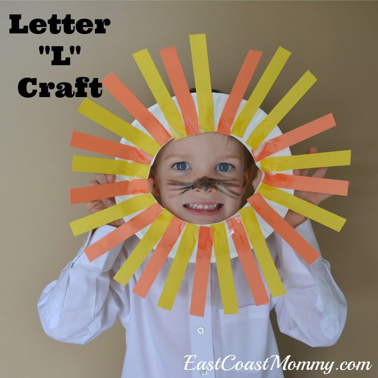 Alphabet Craft - Letter L... a sweet lion mask craft and free printable printing practice.