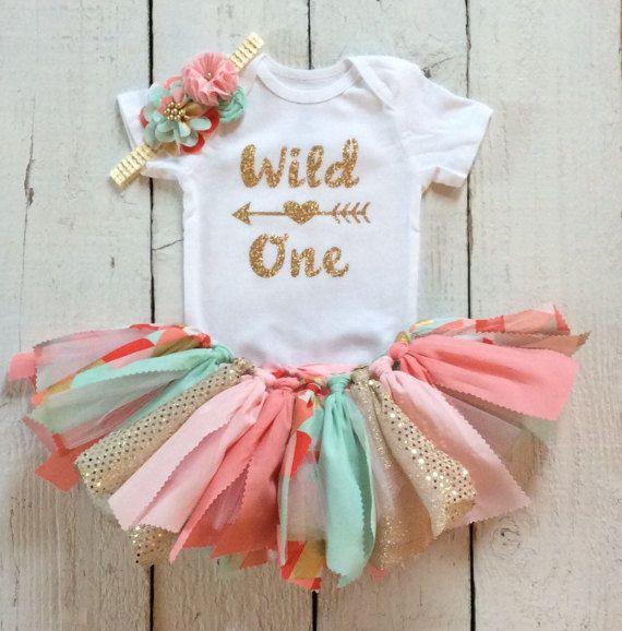 Pink mint coral first birthday,coral mint tutu,mint coral pink tutu,coral mint cake smash outfit,boho first second birthday,wild one onesie