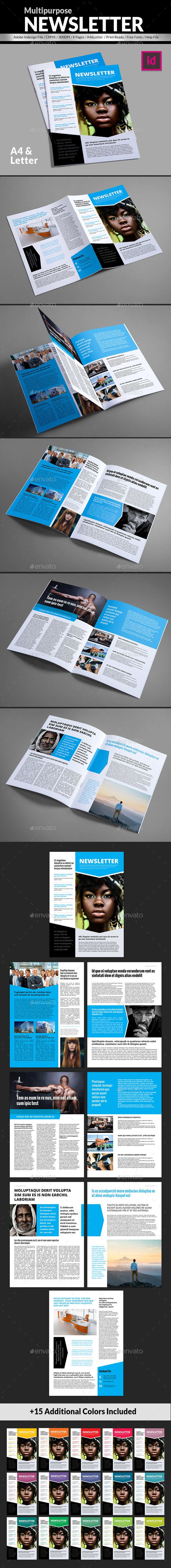 General Newsletter Template - Newsletters Print Templates Download here : https://graphicriver.net/item/general-newsletter-template/19649478?s_rank=3&ref=Al-fatih